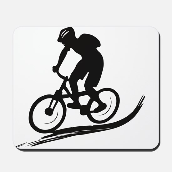 biker mtb mountain bike cycle downhill Mousepad