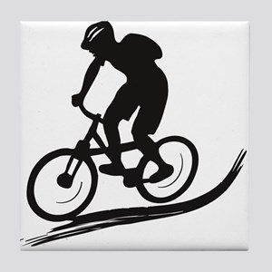 biker mtb mountain bike cycle downhill Tile Coaste