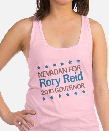2-Nevadan for Reid.png Racerback Tank Top