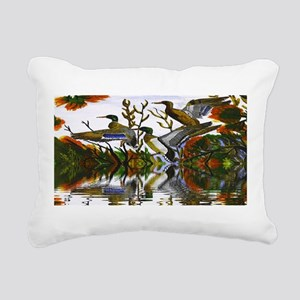 Duck Flight Reflection Rectangular Canvas Pillow