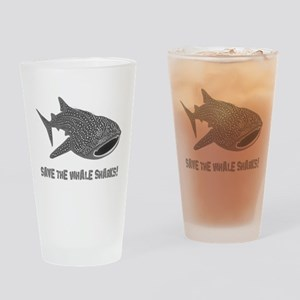 whale shark diver diving scuba Drinking Glass