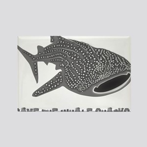 whale shark diver diving scuba Rectangle Magnet