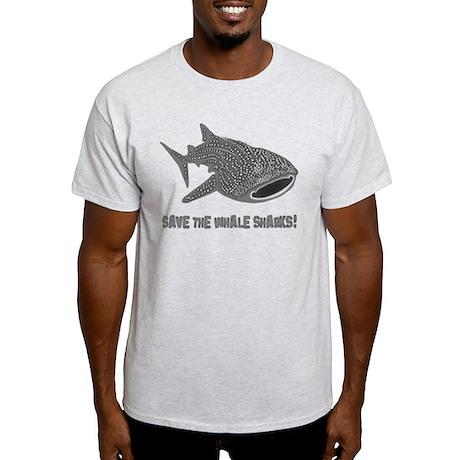 whale shark diver diving scuba Light T-Shirt
