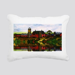 Painting The Farm Rectangular Canvas Pillow