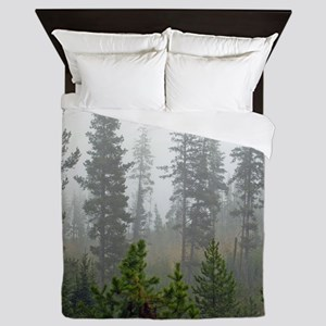 Misty forest Queen Duvet