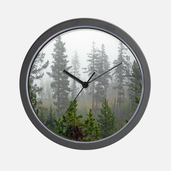 Misty forest Wall Clock