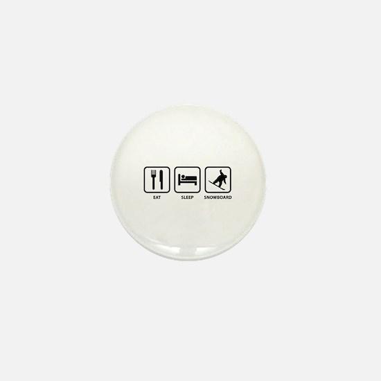 Eat Sleep Snowboard Mini Button