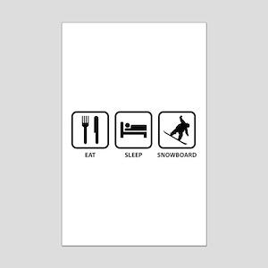 Eat Sleep Snowboard Mini Poster Print