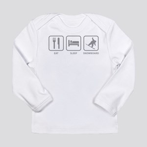 Eat Sleep Snowboard Long Sleeve Infant T-Shirt