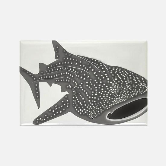 whale shark diver diving scuba Rectangle Magnet