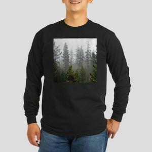 Misty forest Long Sleeve Dark T-Shirt