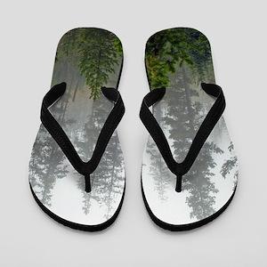 Misty forest Flip Flops