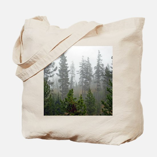 Misty forest Tote Bag