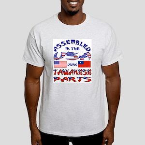 USA / Taiwanese Parts Ash Grey T-Shirt