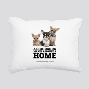 Home with Chihuahuas Rectangular Canvas Pillow