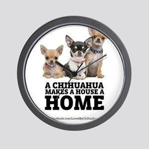 Home with Chihuahuas Wall Clock