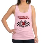FasterAt30.png Racerback Tank Top