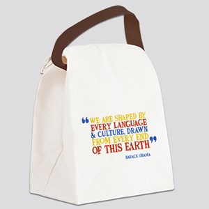 We Are Shaped Canvas Lunch Bag