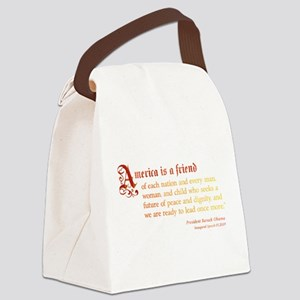 America is a Friend Canvas Lunch Bag