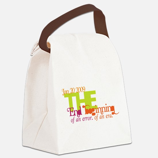 End of an Error Bold.png Canvas Lunch Bag