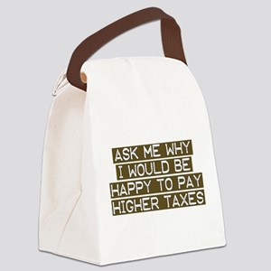 Happy to Pay transparent Canvas Lunch Bag