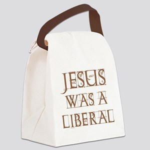 Jesus Was a Liberal dark transparent Canvas Lu