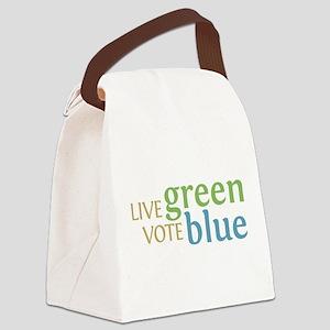 Live Green Vote Blue transparent Canvas Lunch