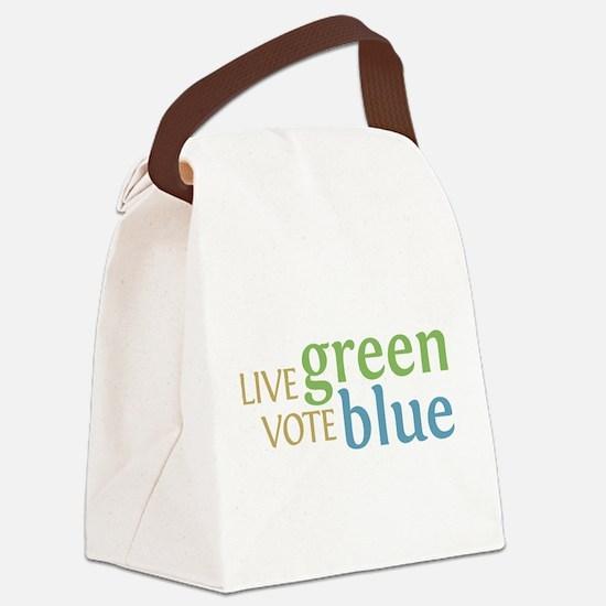 Live Green Vote Blue transparent.png Canvas Lunch