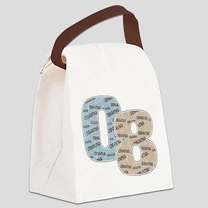 Vintage 08 Obama transparent Canvas Lunch Bag