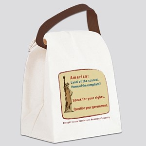 land of the what black tee Canvas Lunch Bag