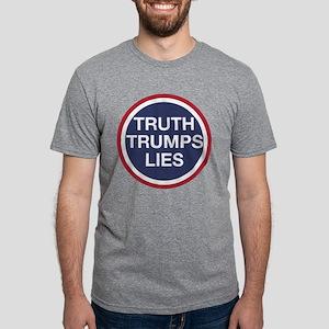 Truth Trumps Lies Mens Tri-blend T-Shirt