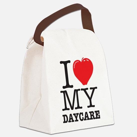 ILoveMyDaycareLogo Canvas Lunch Bag