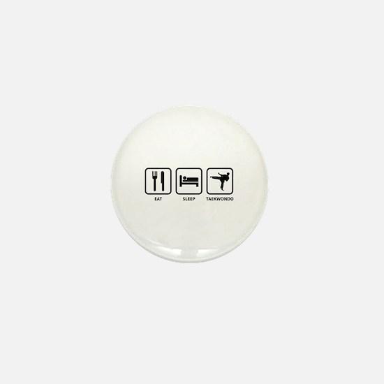 Eat Sleep Taekwondo Mini Button