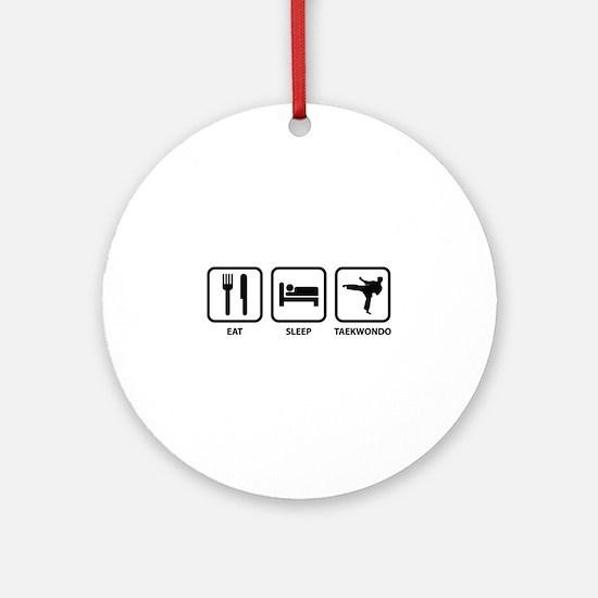 Eat Sleep Taekwondo Ornament (Round)