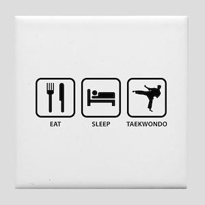 Eat Sleep Taekwondo Tile Coaster
