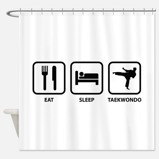 Eat Sleep Taekwondo Shower Curtain