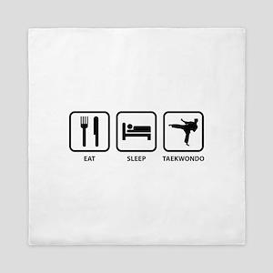 Eat Sleep Taekwondo Queen Duvet