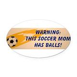 Soccer mom Oval Car Magnets