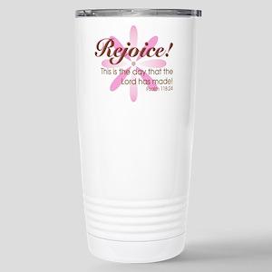 Rejoice! -- Stainless Steel Travel Mug