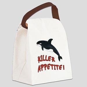 Killer Appetite - Orca Whale Canvas Lunch Bag