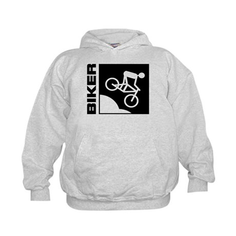 biker cycling mountain bike mtb downhill Kids Hood