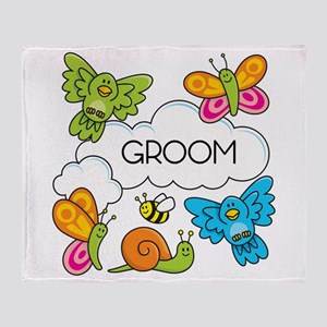 GROOM Throw Blanket