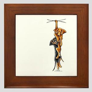 Clingy Dachshunds Framed Tile