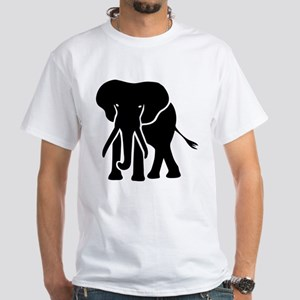 elephant White T-Shirt