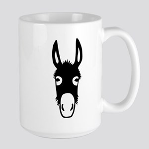 donkey mule horse ass jackass burro fool Large Mug