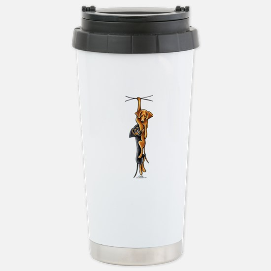 Clingy Dachshunds Stainless Steel Travel Mug