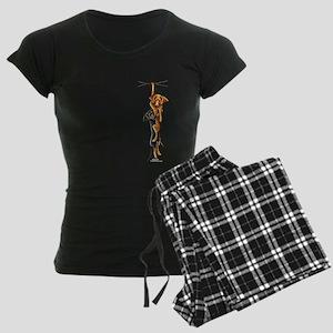 Clingy Dachshunds Women's Dark Pajamas