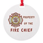 Fire Chief Property Round Ornament