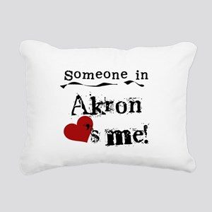 Akron Loves Me Rectangular Canvas Pillow