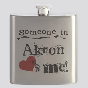 Akron Loves Me Flask